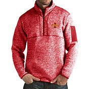 Antigua Men's Iowa State Cyclones Cardinal Fortune Pullover Jacket