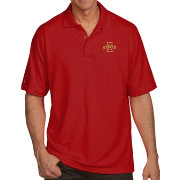 Antigua Men's Iowa State Cyclones Cardinal Pique Xtra-Lite Polo