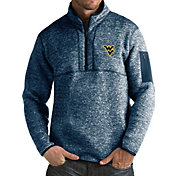 Antigua Men's West Virginia Mountaineers Blue Fortune Pullover Jacket