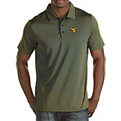 Antigua Men's West Virginia Mountaineers Blue/Gold Quest Polo