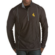 Antigua Men's Wyoming Cowboys Black Tempo Half-Zip Pullover