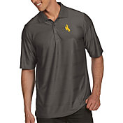 Antigua Men's Wyoming Cowboys Brown Illusion Polo