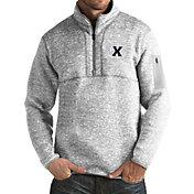 Antigua Men's Xavier Musketeers Grey Fortune Pullover Jacket