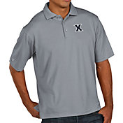 Antigua Men's Xavier Musketeers Grey Pique Xtra-Lite Polo