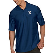Antigua Men's Xavier Musketeers Blue Illusion Polo