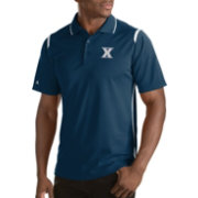 Antigua Men's Xavier Musketeers Merit Xtra-Lite White Polo