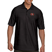 Antigua Men's San Francisco 49ers Illusion Black Xtra-Lite Polo