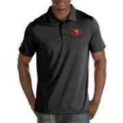 Antigua Men's San Francisco 49ers Quest Black Polo