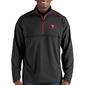Antigua Men's San Francisco 49ers Prodigy Quarter-Zip Black Pullover