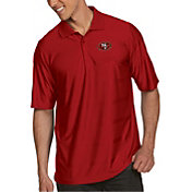 Antigua Men's San Francisco 49ers Illusion Red Xtra-Lite Polo
