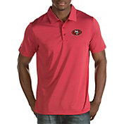 Antigua Men's San Francisco 49ers Quest Red Polo