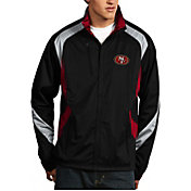 Antigua Men's San Francisco 49ers Tempest Black Full-Zip Jacket