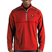 Antigua Men's Tampa Bay Buccaneers Prodigy Quarter-Zip Red Pullover