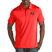 Antigua Men's Tampa Bay Buccaneers Quest Red Polo