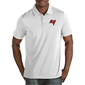 Antigua Men's Tampa Bay Buccaneers Quest White Polo