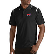 Antigua Men's Buffalo Bills Merit Black Xtra-Lite Polo