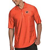 Antigua Men's Cincinnati Bengals Illusion Orange Xtra-Lite Polo