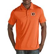 Antigua Men's Cincinnati Bengals Quest Orange Polo