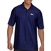 Antigua Men's Denver Broncos Illusion Navy Xtra-Lite Polo