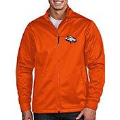 Antigua Men's Denver Broncos Quick Snap Logo Mango Golf Jacket