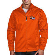 Antigua Men's Denver Broncos Quick Snap Logo Mango Golf Jacket