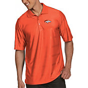 Antigua Men's Denver Broncos Illusion Orange Xtra-Lite Polo