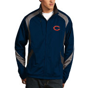 Antigua Men's Chicago Bears Tempest Navy Full-Zip Jacket