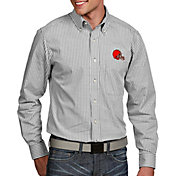 Antigua Men's Cleveland Browns Associate Button Down Dress Shirt