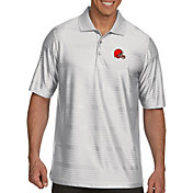 Antigua Men's Cleveland Browns Illusion White Xtra-Lite Polo