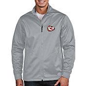 Antigua Men's Kansas City Chiefs Quick Snap Logo Silver Golf Jacket