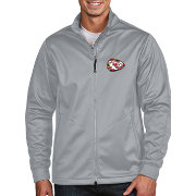 Antigua Men's Kansas City Chiefs Quick Snap Logo Silver Golf Jacket