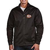 Antigua Men's Kansas City Chiefs Quick Snap Logo Black Golf Jacket