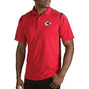 Antigua Men's Kansas City Chiefs Merit Red Xtra-Lite Polo