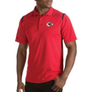 Antigua Men's Kansas City Chiefs Merit Red Xtra-Lite Polo
