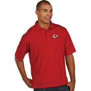 Antigua Men's Kansas City Chiefs Pique Xtra-Lite Red Polo