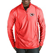 Antigua Men's Kansas City Chiefs Tempo Red Quarter-Zip Pullover