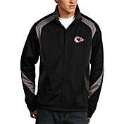 Antigua Men's Kansas City Chiefs Tempest Black Full-Zip Jacket