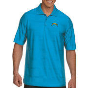 Antigua Men's Los Angeles Chargers Illusion Blue Xtra-Lite Polo