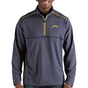 Antigua Men's Los Angeles Chargers Prodigy Quarter-Zip Navy Pullover