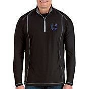 Antigua Men's Indianapolis Colts Tempo Black Quarter-Zip Pullover