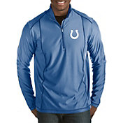 Antigua Men's Indianapolis Colts Tempo Royal Quarter-Zip Pullover