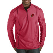 Antigua Men's Arizona Cardinals Tempo Red Quarter-Zip Pullover