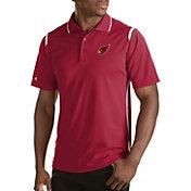 Antigua Men's Arizona Cardinals Merit Red Xtra-Lite Polo