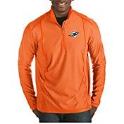 Antigua Men's Miami Dolphins Tempo Orange Quarter-Zip Pullover