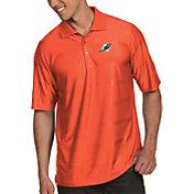 Antigua Men's Miami Dolphins Illusion Orange Xtra-Lite Polo