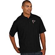 Antigua Men's Atlanta Falcons Pique Xtra-Lite Black Polo