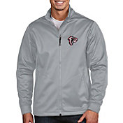 Antigua Men's Atlanta Falcons Quick Snap Logo Silver Golf Jacket