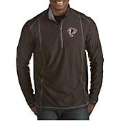 Antigua Men's Atlanta Falcons Quick Snap Logo Tempo Black Quarter-Zip Pullover