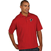 Antigua Men's Atlanta Falcons Pique Xtra-Lite Red Polo