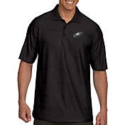 Antigua Men's Philadelphia Eagles Illusion Black Xtra-Lite Polo